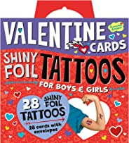 Peaceable Kingdom Shiny Foil Tattoo Valentines - 28 Card Pack