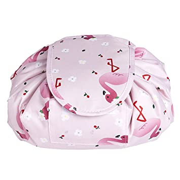 07e91e1b8d Amazon.com   Portable Drawstring Cosmetic Bag Large Capacity Lazy Travel Makeup  Pouch magic Toiletry Bag for Womens Girls