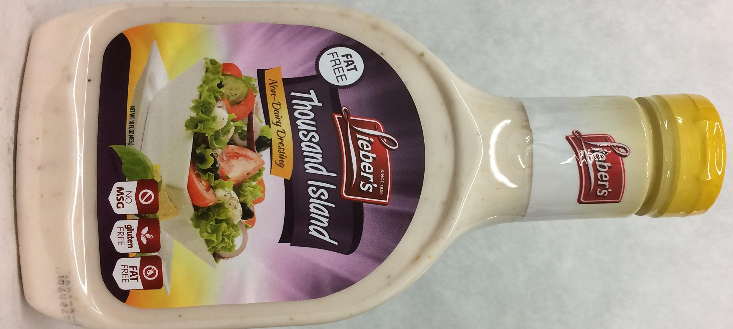 Lieber's Thousand Island Non-Dairy Dressing Kosher For Passover 16 Oz. Pack Of 6.