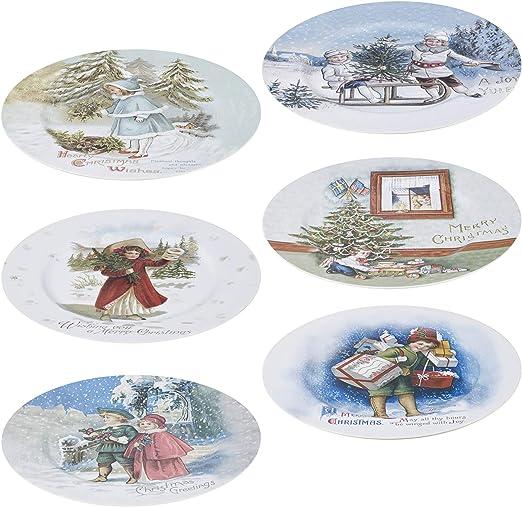 URBN-CHEF - Juego de 6 platos decorativos para decoración de mesa ...