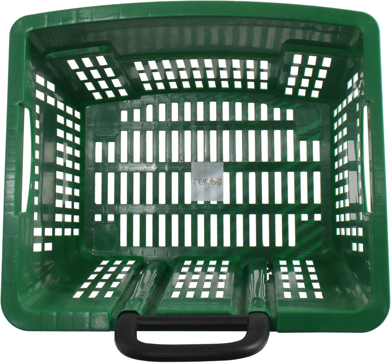 trolley pour achats 55 litres bleu sur roues ABS plstique corbeilles d/´achats mobile muticolore rouge