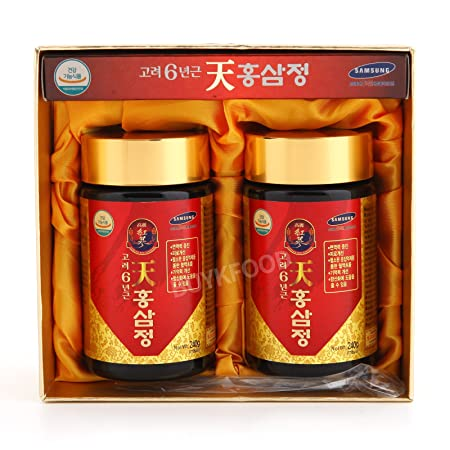 Korean 6years Root Red Ginseng Gold Extract, 240g 8.5oz X 2ea, Saponin, Panaxs