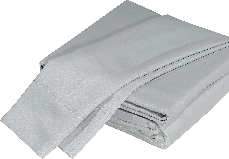 DTY Bedding Luxuriously Soft 100% Organic Bamboo 5-Piece Sheet Set, Oeko-TEX Certified - Split King, Light Gray