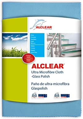 ALCLEAR 820051UM Ultra Microfiber Glass and Polishing Cloth. Blue. Size 27.56 x 19.69 in