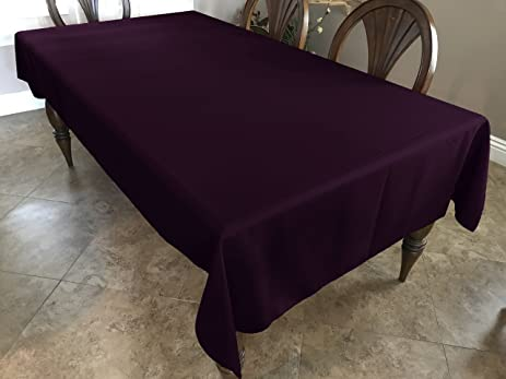 Awesome Fabricbydesign Solid Plum Dark Purple Linen Tablecloth Polyester Thick  Durable Machine Washable Table Linen Eggplant Plum