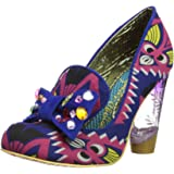 Irregular Choice Womens Naughty Smile Court Shoes