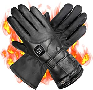 Wodesid Electric Heated Gloves Rechargeable Heating Gloves for Men Women Thermal Gloves Motorcycle Ski Snow Warmer Mitten Glove Arthritis for Winter Outdoor Indoor Sports