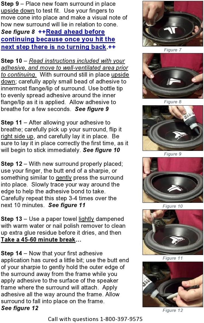 TLX Springfield Speaker 8 Foam Surround Edge Repair Kit Compatible with P208 MR MV