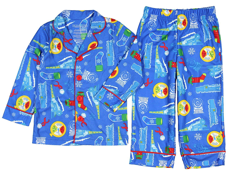 The Polar Express Little Boys' Blue Coat-Style Pajamas 3T