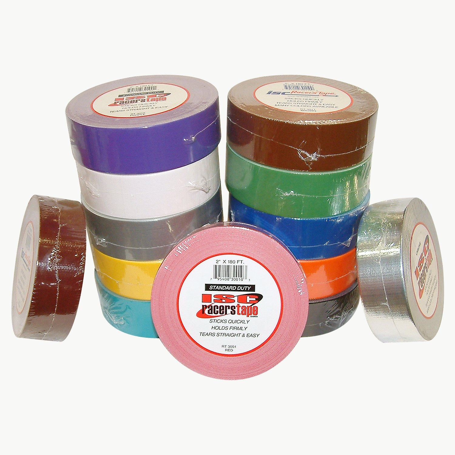ISC Racers Tape RT3012 ISC Standard-Duty Racer's Tape: 2'' x 60 yd, Chrome