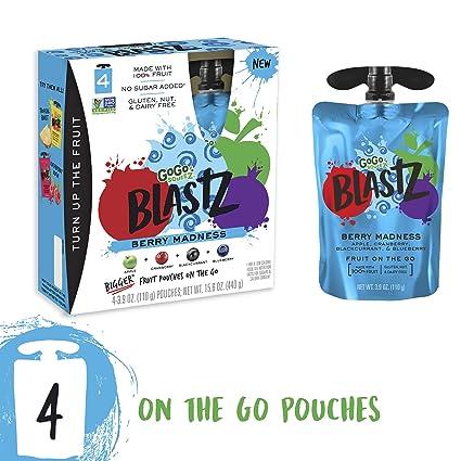 GoGo SqueeZ BlastZ bolsas de frutas en el Go, Berry Madness ...