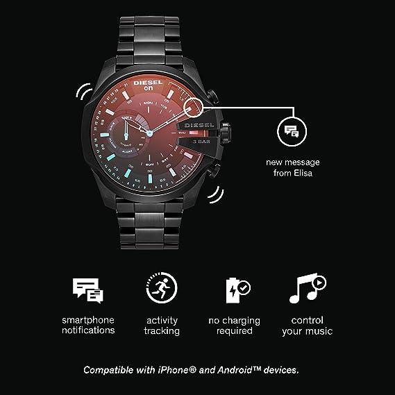 Diesel Hybrid Smartwatch – Negro IP Acero Inoxidable Mega Chief ...