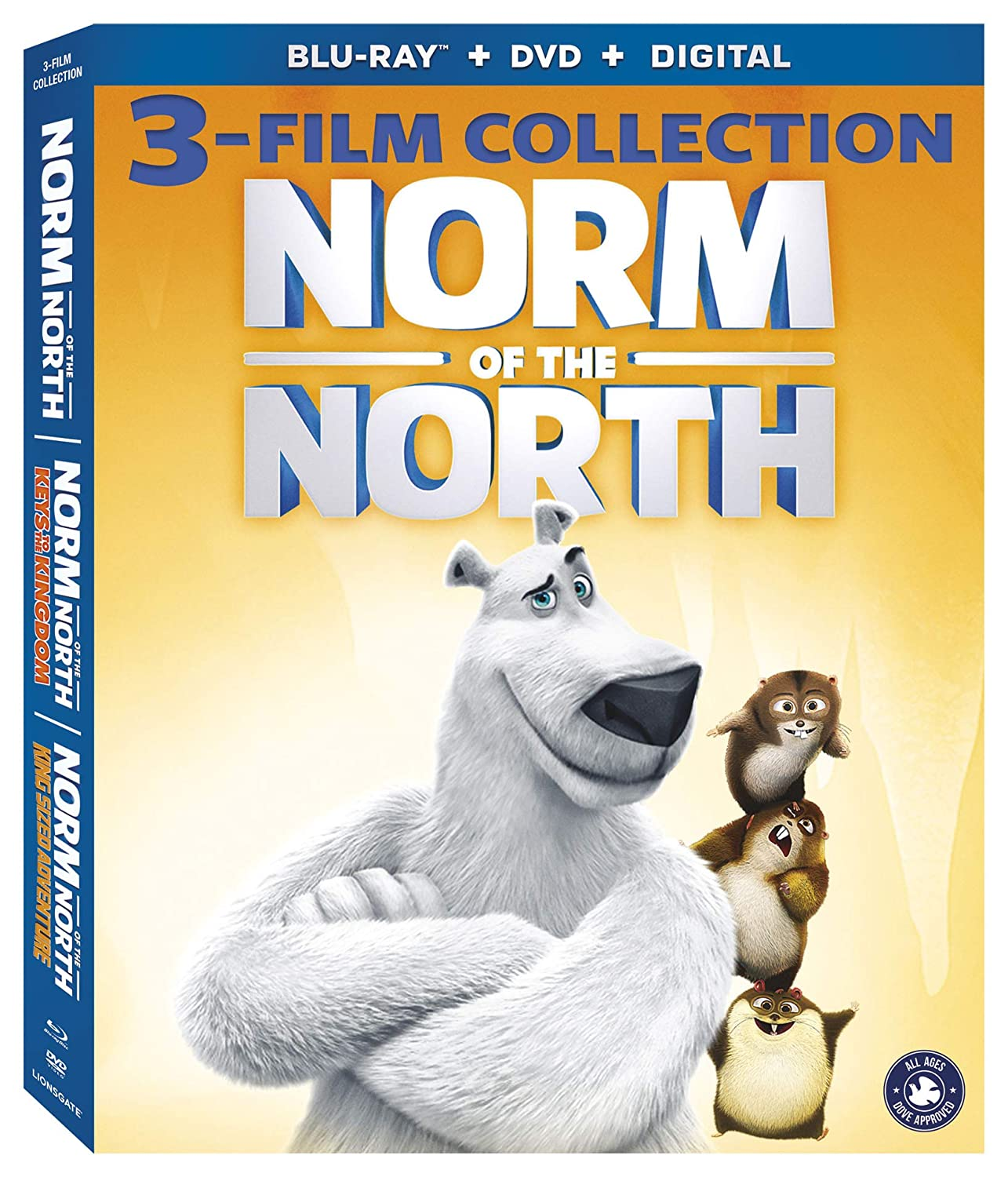 Amazon Com Norm Of The North 3 Film Coll Blu Ray Rob Schneider Heather Graham Bill Nighy Zachary Gordon Ken Jeong Colm Meaney Movies Tv