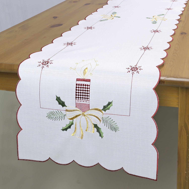 koyiscloth Modello di alfabeto moderno panno tavolo da pranzo bandiere ristorante Tabella di lino Runner decorazione tavola di nozze 30 x 180 cm 11,8 x 70,8 pollici