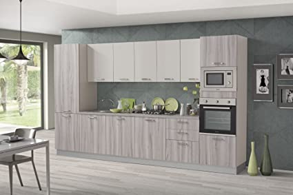 Mobili Per Ufficio Nuovarredo : Nuovarredo cucina rugiada in noce artico e sabbia lucido amazon