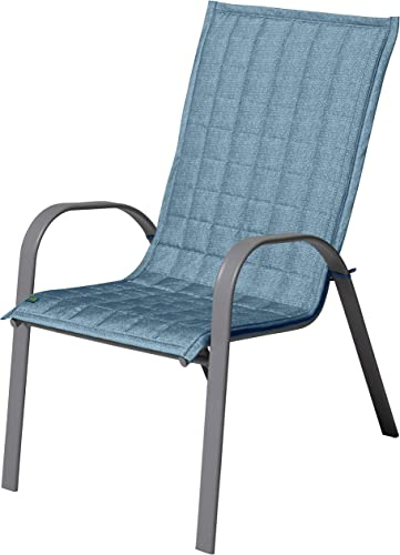 Duck Covers Weekend Water-Resistant 45 Inch Patio Chair Slipcover, Blue Shadow