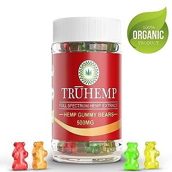 Natural Hemp Gummies - Gummy Bears 500Mg - 50ct - Premium Hemp Extract -  Relieve Stress, Pain