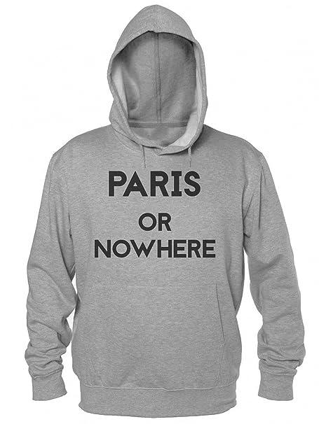 Paris Or Nowhere Sudadera con Capucha para Hombre Mens Hooded Sweatshirt Small