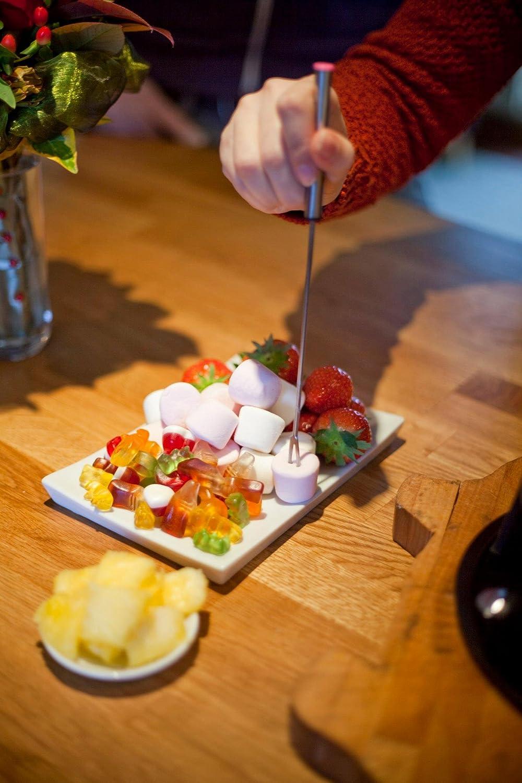 Kitchen Kitchen Kitchen Craft Emailliertes Fondue-Set aus Gusseisen mit 6 Gabeln, cremefarben B000YJ7LAE Kse-Fondues 5707f2