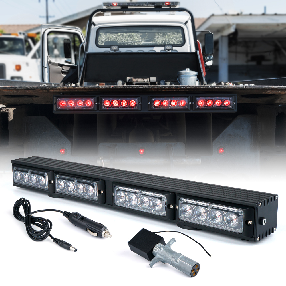 Xprite 21.5 Wireless 4 Pin Round Transmitter LED Tow Truck Light Bar with Magnetic Base