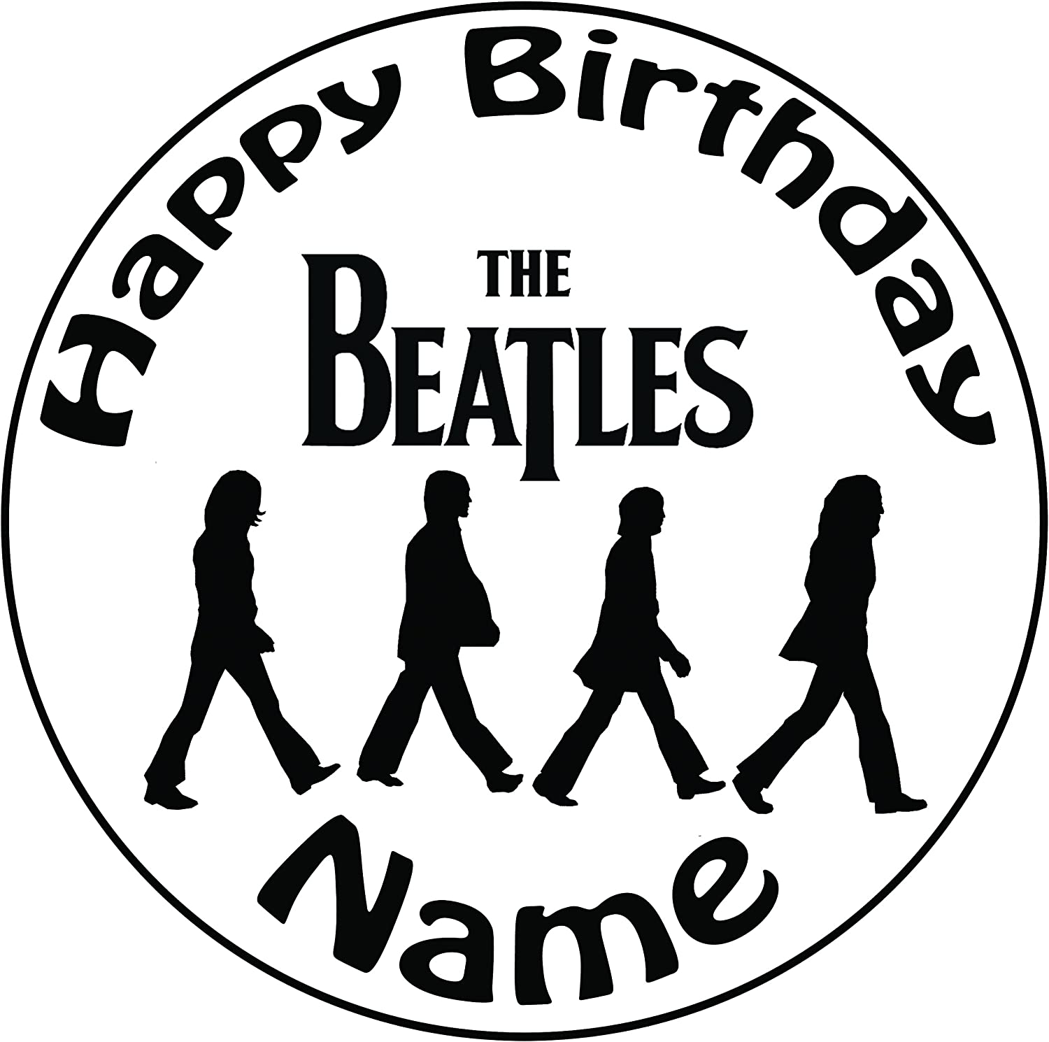 THE BEATLES NO 3  BIRTHDAY CAKE  TOPPER A4  EDIBLE ICED// ICING  PERSONALISED
