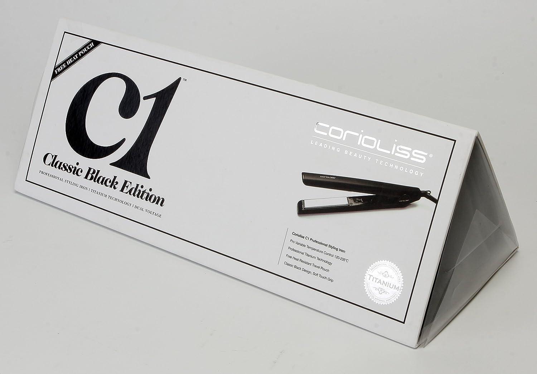 Corioliss C1 - Plancha de pelo profesional, tecnología de titanio, color negro: Amazon.es: Salud y cuidado personal