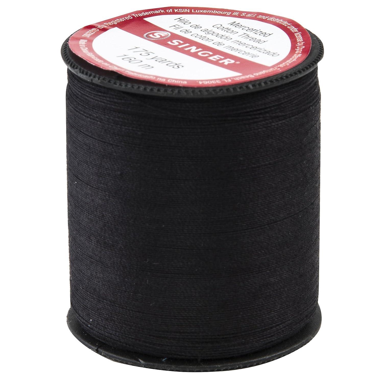 シルケット木綿糸 175 ヤード黒サイズ 50   B000FZ5HV2