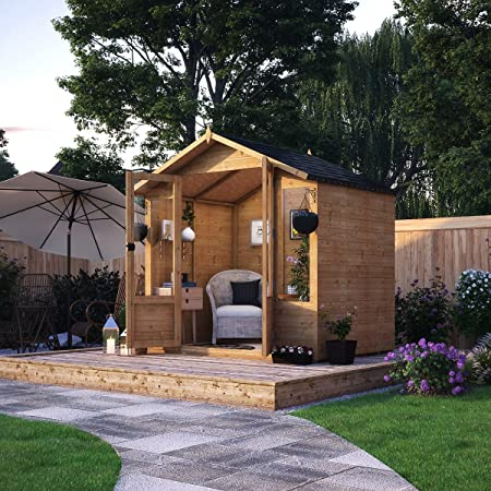 Norwell de madera jardín lugar de descanso T & G Apex Doble ...