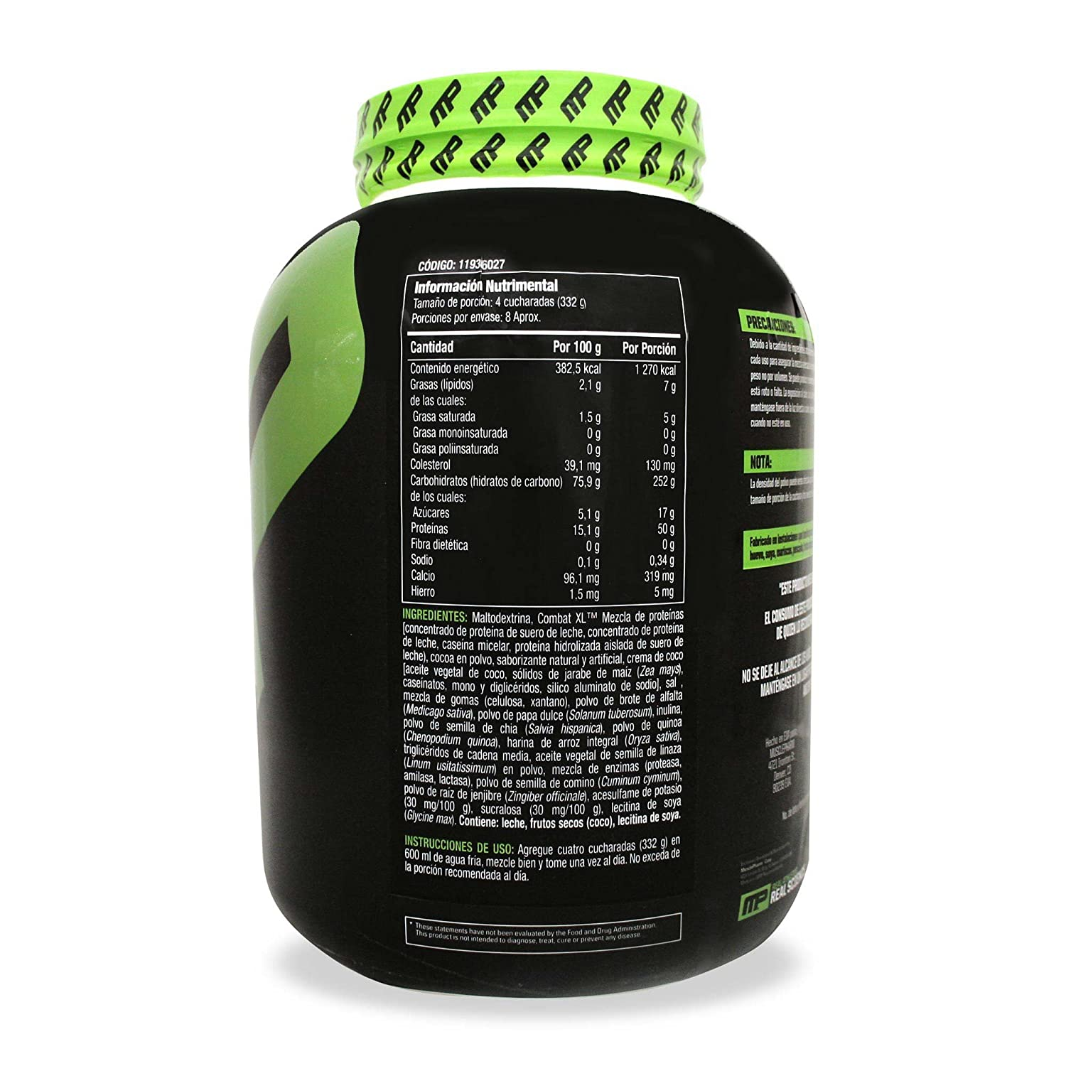 Musclepharm Combat XL Mass Gainer Sport Series Chocolate - 2721 gr ...
