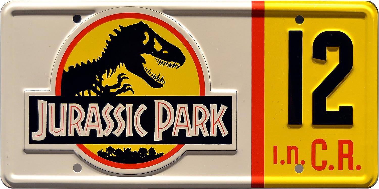 Jeep #18 Metal Stamped License Plates Celebrity Machines Jurassic Park