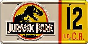 Celebrity Machines Jurassic Park | # 12 | Metal Stamped License Plate