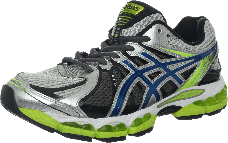 Asics Gel-Nimbus 15 del Hombre Running Shoe Lightning/Azul Acero/Lima, Color Azul, Talla 42,5 EU: Amazon.es: Zapatos y complementos