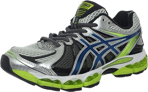 Asics Gel-Nimbus 15 del Hombre Running Shoe Lightning/Azul Acero/Lima, Color Azul, Talla 45.5: Amazon.es: Zapatos y complementos