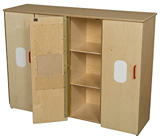 Wood Designs Kids Pretend Playtoddler Cubby Storage 990540