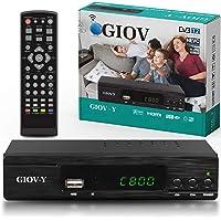 Giov Y Decoder Digitale Terrestre DVB T2 / HDMI / Decoder DVB T2 HEVC, Full HD Ricevitore TV Registratore USB Decoder DVB-T2 HD PVR Decoder 4K Decoder Digitale Terrestre Scart / Decoder Per Digitale