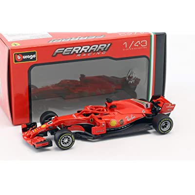 Bburago 2020 Ferrari Racing Formula 1 F1 SF71-H #5 Sebastian Vettel Die-cast Car 1: 43 Scale 36809 SV, Red: Toys & Games