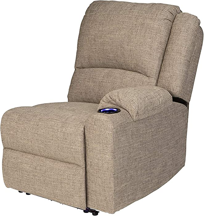 "THOMAS PAYNE 759239 Seismic Series Cobble Creek 30"" x 38"" x 40"" RV Modular Theater Seating Left Hand Recliner"