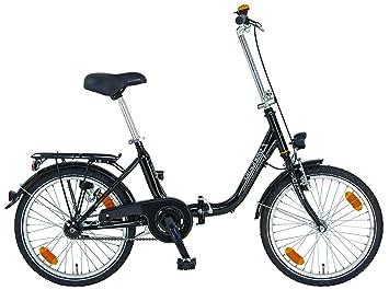 Prophete bicicleta plegable para City de bicicleta plegable 20 pulgadas Genie sser 6.0, brilliantschwarz,