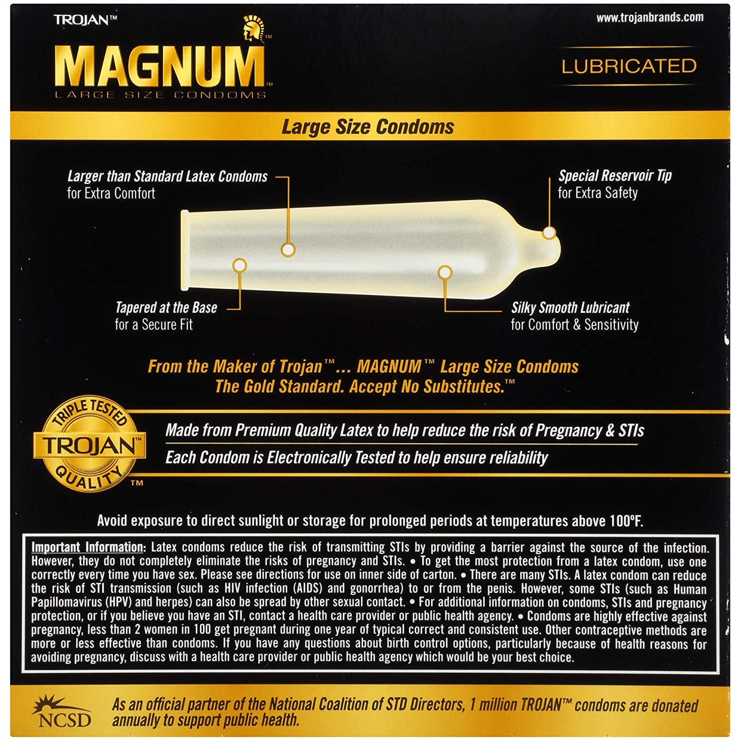 Amazon com trojan magnum lubricated latex large size condoms