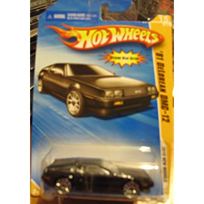 Hot Wheels 2010 New Models '81 DeLorean DMC-12 BLACK #015: Toys & Games