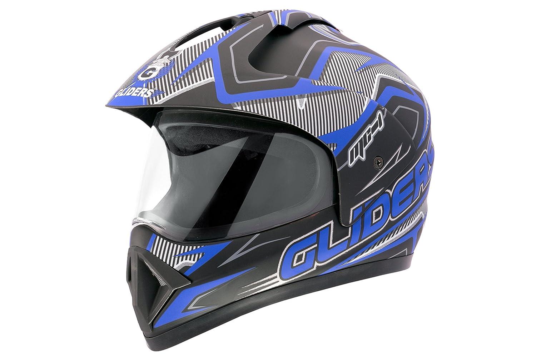 5b1426a1 GLIDERS-MC1-D1-Matte Blue Silver: Amazon.in: Car & Motorbike