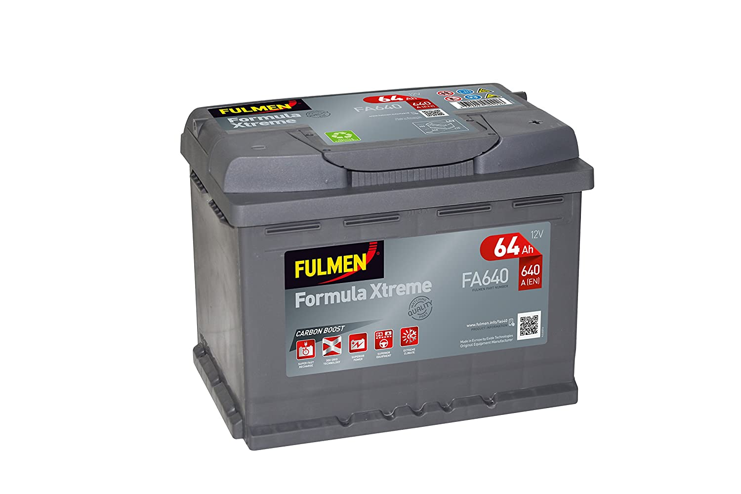 Fulmen Batterie Voiture Fa640 12 V 64 Ah 640 A 12v 72ah Smf Battery Charger Circuit Diagram Super