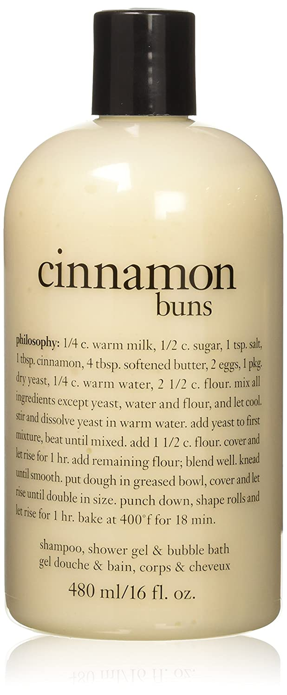 Philosophy Cinnamon Buns Shampoo, Shower Gel and Bubble Bath, 480 ml/16 oz. PHI00011