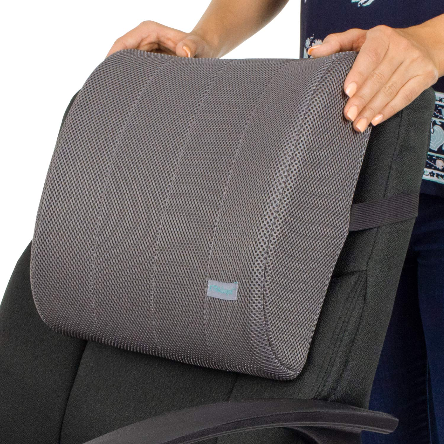 Xtra-Comfort Lumbar Support for Office Chair- Lumbar Pillow For Car, Gaming, Men, Women - Ergonomic Orthopedic Foam Roll & Adjustable Strap For Therapeutic Lower Pain Relief - Mesh Cover by Xtra-Comfort