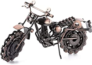 Wenmily BOYULL Creative Retro Hand Soldering Wrought Iron Motorcycle Model, Home Decor Ornaments for Motorcycle Lovers or Kids
