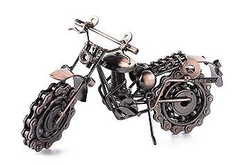 Creative Retro mano soldadura hierro forjado motocicleta modelo, decoración del hogar adornos para los amantes de la motocicleta o niños: Amazon.es: Hogar