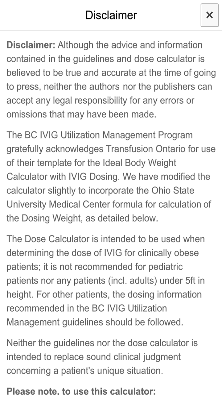 IVIG Dosing Calculator: Amazon com au: Appstore for Android