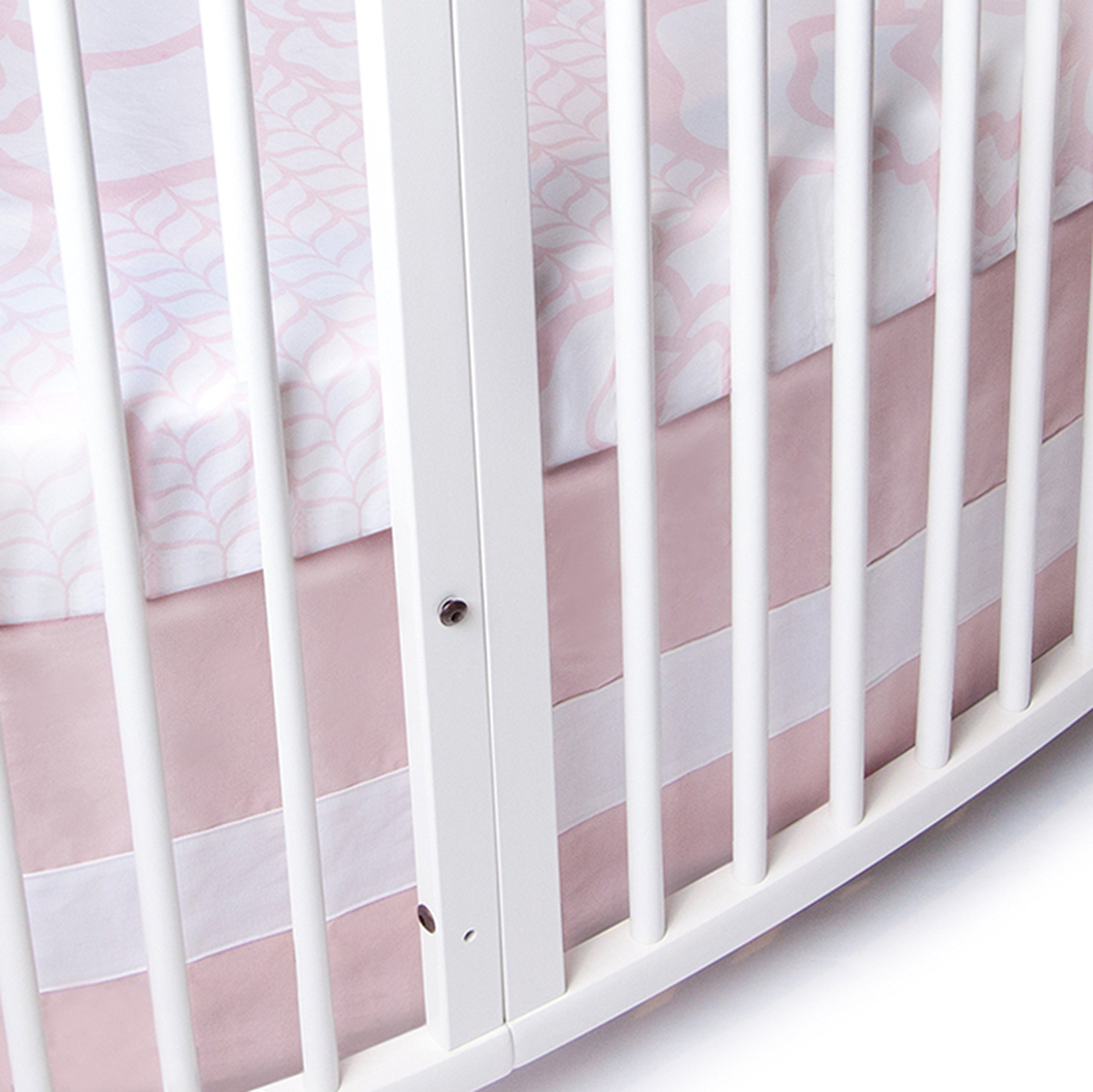 Oilo Stokke Sleepi Woven Band Crib Skirt, Blush