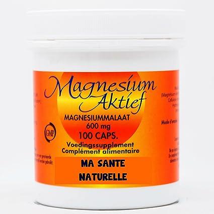 Magnesio activo (Malate de magnesio 600 mg) – 100 Cápsulas vegetales – -FECHA