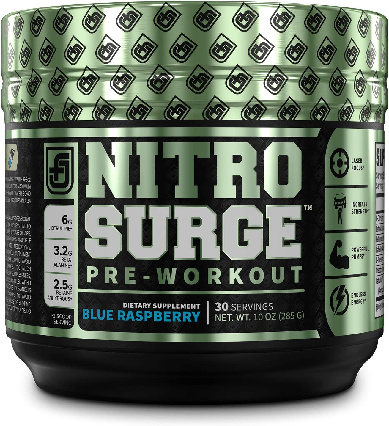 Amazon.com: NITROSURGE Pre Workout Supplement - Energy Booster, Instant  Strength Gains, Clear Focus, & Intense Pumps - Nitric Oxide Booster &  Powerful Preworkout Energy Powder - 30 Servings, Blue Raspberry: Health &  Personal Care